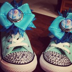 Elsa Frozen Custom Converse Girls Sneakers by TheLittleThingsByCB, $49.99