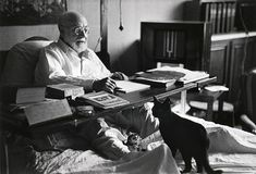 Henri Matisse con il suo gatto Coussi