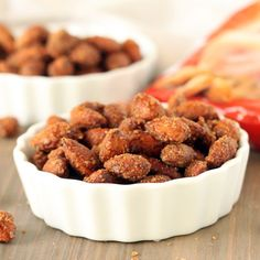 Maple Cinnamon Candied Almonds