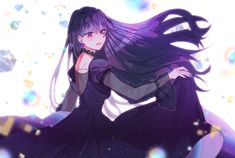 Dark Anime Girl, Kawaii Anime Girl, Manga Girl, Anime Love, Anime Princess, Manhwa Manga, Anime Hair, Girls Characters, Manga Pictures