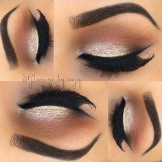 Pinterest : @Lovelyy_Amber97 ❤️ Natural every day kinda silver eyeshadow