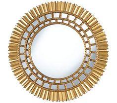 "Acova Antique Gold 36"" Round Wall Mirror | 55DowningStreet.com"