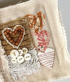 four hearts journal, detail by Rebecca Sower, via Flickr