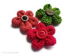 Des fleurs au tricot super faciles – Bonjour Handmade par AnnyMay