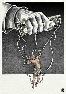 23 August: International Day for the Remembrance of the Slave Trade and Its Abolition. Cartoon by Shahrokh Heidari.