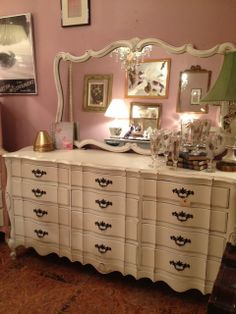 Shabby Chic Cottage Painted French Provincial Long by TessHome, $1695.00