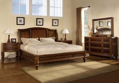 Wynwood Brendon Cherry Queen Size Sleigh Bed Traditional Bedroom Furniture New | eBay