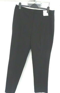 BNWT Sizes 20R RRP £30 NEXT Ladies Black Stripe Taper Trousers