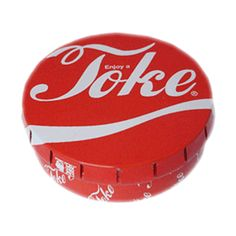 'Enjoy a Toke' Pop Tin. Buy a Pop Tin because: Its size and shape make it a handy place to store your herbs, especially good for when you're on the move; The lid has been cleverly designed so you can open it one handed, with just a press it clicks open and with a squeeze of the sides it snaps shut securely; It looks cool and there are loads of wicked head-case designs to collect.