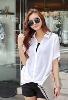 Style Berry SHIRT/BLOUSES 76194 < loose fit Pinteok Half-open Shirt < FASHION / CLOTHES < WOMEN < SHIRT/BLOUSES