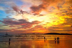Killer sunset of Ao Nang beach
