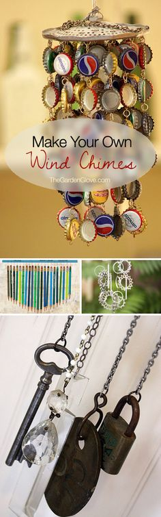 Make Your Own Wind Chimes! • Creative & Cool DIY Wind Chime Ideas & Tutorials!  @Lauren Geib now we know what to do with those snapple caps!