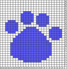 Knitting Charts or Graphs cat paws Intarsia Knitting, Intarsia Patterns, Knitting Charts, Knitting Stitches, Knitting Patterns Free, Stitch Patterns, Crochet Patterns, Free Knitting, Free Pattern