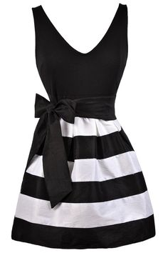 Lily Boutique Gina Black and White Stripe A-Line Dress, $32 Black and White Stripe Party Dress, Cute Black and White Dress, Black and White A-Line Dress, Cute Stripe Dress www.lilyboutique.com
