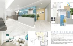 Bright interiors to create a fresh outlook to this small clinic