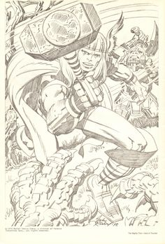 Jack Kirby Thor pencils