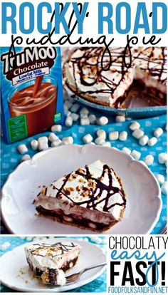Whip up a new family favorite dessert with this rocky road pudding pie made with TruMoo Chocolate Milk!