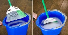 We use our brooms to clean which means they can get pretty gross. To clean your broom, soak it in a buck of warm water and dish soap. Let it air dry before you put it away. You should also spray your brooms with disinfectant after each use. Household Cleaning Tips, Deep Cleaning Tips, Toilet Cleaning, House Cleaning Tips, Diy Cleaning Products, Cleaning Solutions, Cleaning Hacks, Bathroom Cleaning, Spring Cleaning Tips