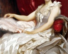 Amy Augusta, Lady Coleridge, Detail. by Frederic, Lord Leighton