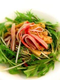 ヒガシマル淡口醤油レシピを参考に。 ごま油と醤油のサッパリ味 - 3件のもぐもぐ - 水菜とおあげさんのサラダ by ein