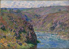 Claude Monet, Valley of the Creuse, Sunlight Effect, 1889. The MFA, Boston
