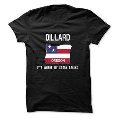 DILLARD – Its where my story begins T Shirt, Hoodie, Sweatshirts - tshirt design #Cotton #LongSleeve