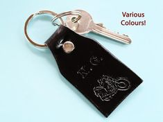 Click To Shop Now - Handmade Personalized Motorcycle Leather Keyring, Hand-Stamped Leather Keychain. #personalized #motorcycle #leather #keyring #keychain #handstamped Leather Bookmark, Leather Keyring, Leather Gifts, Leather Craft, Leather Anniversary Gift, 3rd Anniversary Gifts, Personalised Keyrings, Personalized Gifts, Motorcycle Leather