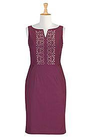 I <3 this Graphic embellished sheath dress from eShakti
