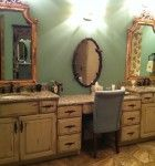 A Place for a Little Vanity - from Calvery's Booneville Cabinet Company @KitchenBathChan