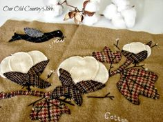 Our Old Country Store: It's a Cotton Pickin' Wool Folk Art Applique Pattern!