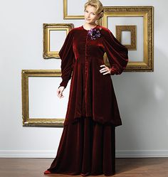 Victorian inspired tea gown sewing pattern  M2046 The Vault Collection, patterns, LARP