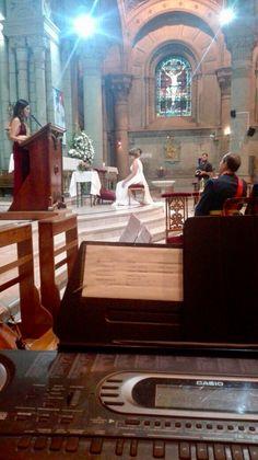 Coro para matrimonio.  Kristel y Sebastian, Iglesia San Lázaro Músicos para ceremonias Música para matrimonios Santiago de Chile.