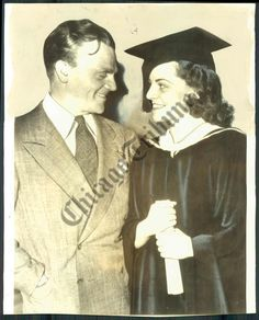 With Jeanne upon her 1938 graduation