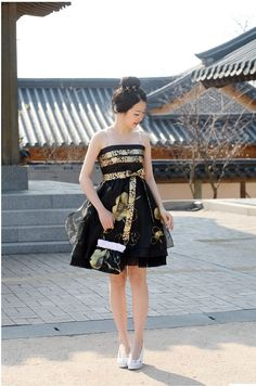 Fusion Hanbok (Korean traditional dress)|sonjjang: