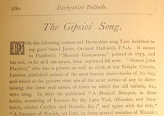 the Gypsy song