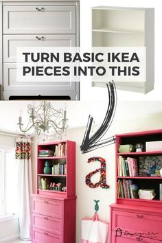 This IKEA Billy bookcase hack is as pretty as it is functional! Learn how to use basic IKEA pieces to create built-ins with loads of storage and style. Perfect in bedrooms for kids and easily customizable! This IKEA Billy book Billy Ikea, Ikea Billy Bookcase Hack, Billy Bookcases, Small Bookcase, Ikea Hack Bedroom, Bedroom Hacks, Ikea Kids Room, Kids Rooms, Ikea Kids Storage