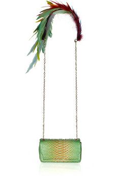 Christian Louboutin20th Anniversary Artemis Plumes and  python shoulder bag....sigh, a girl can dream