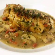 Rico Pollo en salsa de champiñones ¡Una receta sencilla pero deliciosa! #Gourmet