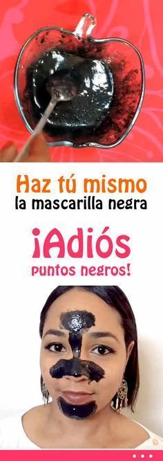 #mascarilla #negra #DIY #puentosnegros #piel