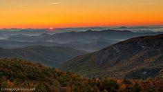 Autumn sunset in the Blue Ridge Mountains