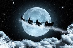 Christmas Decorations, Christmas Ideas, Christmas Scenes; Santa and his sleigh