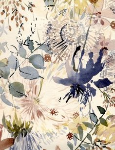 I love this watercolour floral by Luli Sanchez