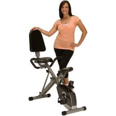 Folding Recumbent Exercise Bike Cardio Fitness Training Home Gym Workout Stationary Bicycle Cycling Large Seat Cushion Magnetic Tension Control Upright Tone Legs Muscle Weight Loss Portable Equipment >>> Details can be found by clicking on the image.