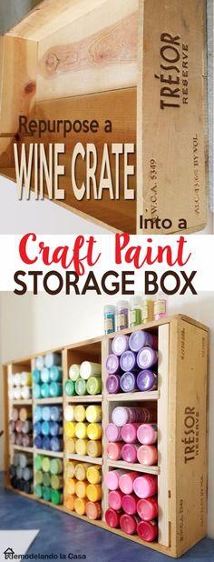 Mejores 215 imgenes de craft room en pinterest organizadores 35 cool craft room storage ideas solutioingenieria Images