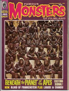 Lots of great horror, fantasy & science fiction movie related Classic Books, magazines & comics available like this one: FAMOUS MONSTERS #80  Planet of the Apes Special at QualityComicsAmerica