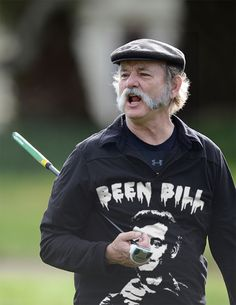 I have to say that Bill Murray is one of my favorite human beings ever! Absolutely adore him! If I had to chose between him and Johnny depp.id probably choose Murray! Vive Le Sport, Idol, Portraits, Play Golf, My Guy, Facial Hair, Funny People, Comedians, Actors & Actresses