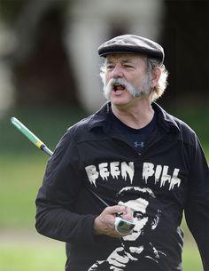Bill Murray wearing a shirt of Bill Murray.