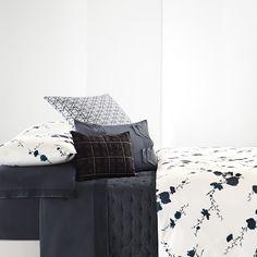 Vera Wang Ink Wash Floral Duvet Cover. #BeddingStyle #luxury #luxurious #VeraWang