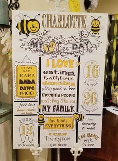 1st Birthday Party For Girls, First Birthday Party Themes, 1st Birthday Decorations, Birthday Ideas, Baby Birthday, Bumble Bee Birthday, Little Mac, 1st Birthdays, Bumble Bees