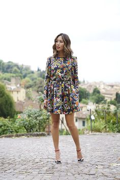 Floral Vivetta Dress at the Flower Garden in Florence